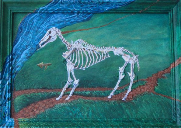 """You can Lead a Horse 18. 5"""" x 13"""" $150.00"""