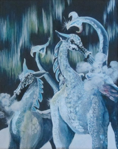 "SnowDragons 8"" x 10"" $180.00"