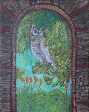 "Brian's Owl 12"" x 16"" 2011"