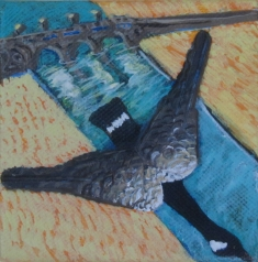 """coming home 4"""" x 4"""" $80.00"""