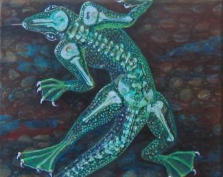 """LizardGuy 10"""" x 8"""" $135.00"""