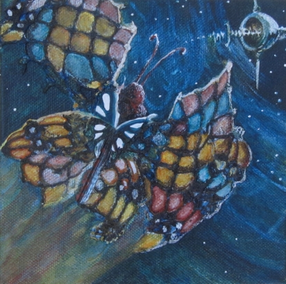 """SpaceMoth 6"""" x 6""""$120.00"""