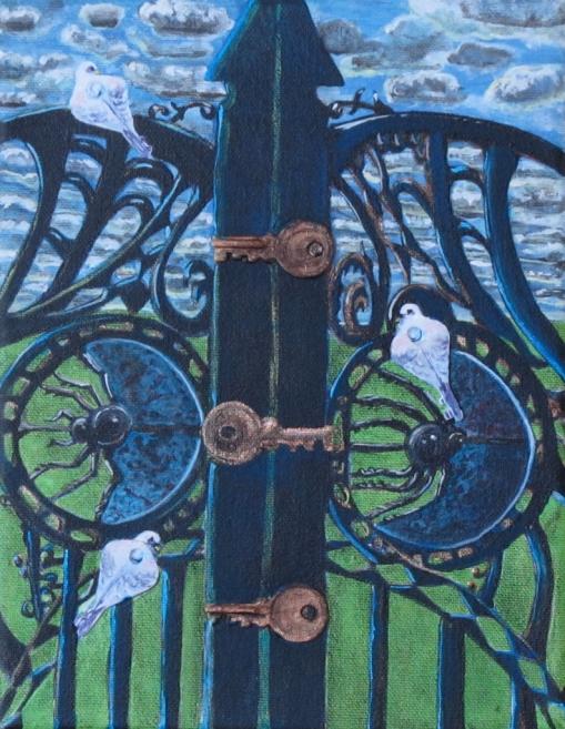 "The Gate 7"" x 9"" 2012"
