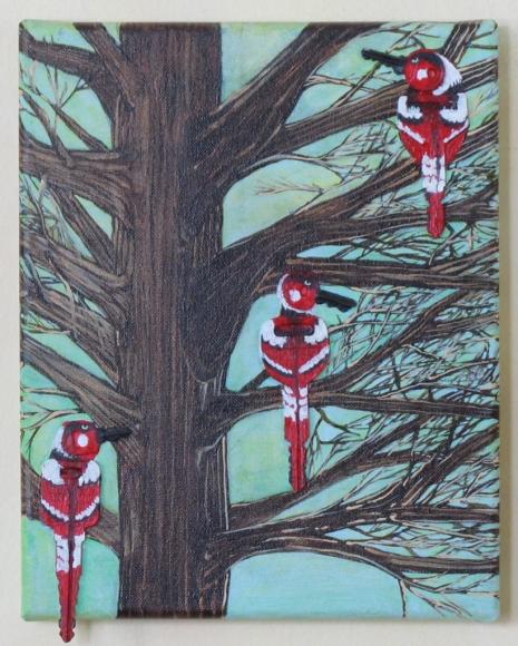 "Red Birds 8"" x 10"" 2012"