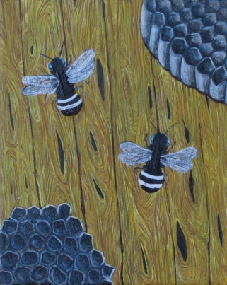 """Two Bees ornot Two Bees 8"""" x 10"""" 2011"""