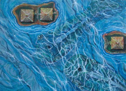 """Whale Blues 8"""" x 6"""" $140.00"""