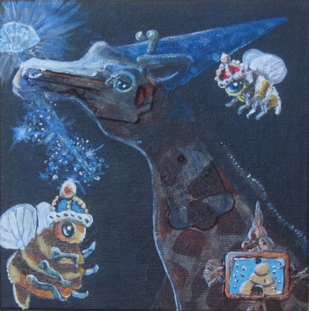 """The Wizard 5""""x5"""" $100.00"""