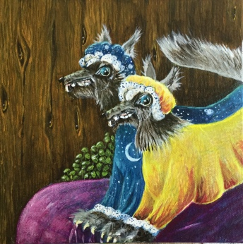 """My What Big Teeth You Have 7"""" x 7"""" $140.00"""