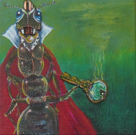 """BeHold The AntQueen 5"""" x 5"""" $110.00"""