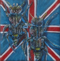 "Meat the Beetles 4"" x 4"" $80.00"