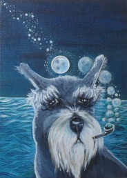 """Old Man and The Sea 5"""" x 7"""" SOLD"""