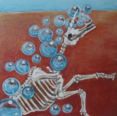 """I'm Forever Blowing Bubbles ,Too 7"""" x 7"""" $170.00"""